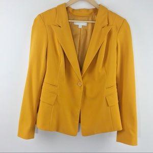 NY&Co Mustard Yellow Oversized Boyfriend Blazer